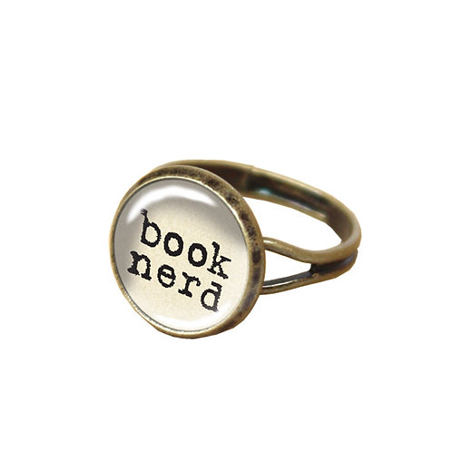 Book-Nerd-Ring, weiß