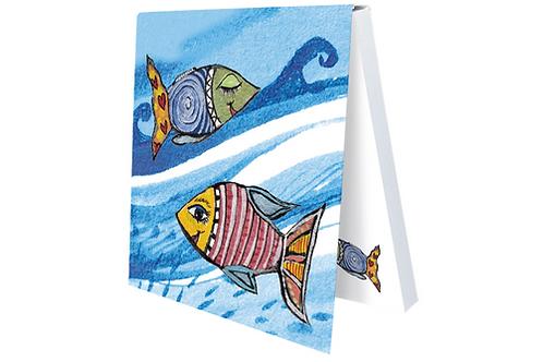 Klebezettel »Spaß mit den Wellen«