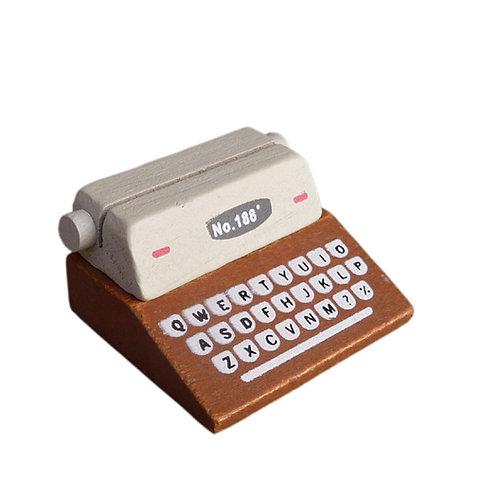 Kartenhalter »Schreibmaschine«, braun