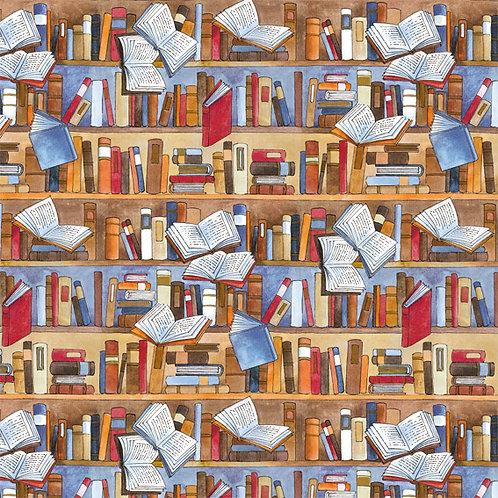 Geschenkpapier »Bibliothek«