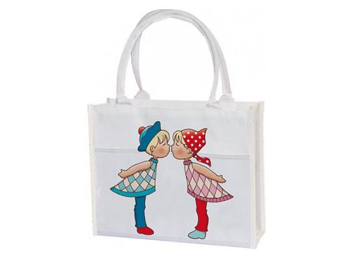 Einkaufstasche »Küsschen«