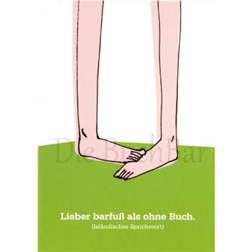 Kunstpostkarte »Barfuß«
