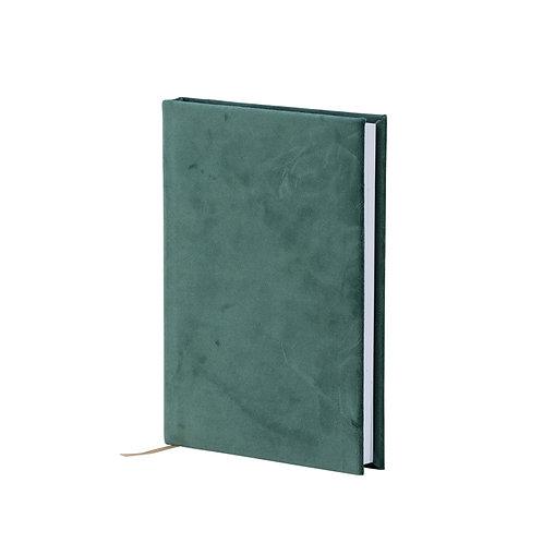 Samt-Notizbuch, grün