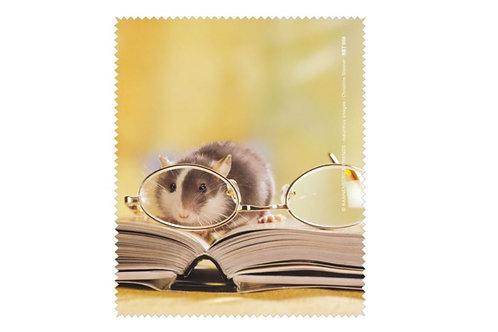Brillenputztuch »Leseratte mit Brille«