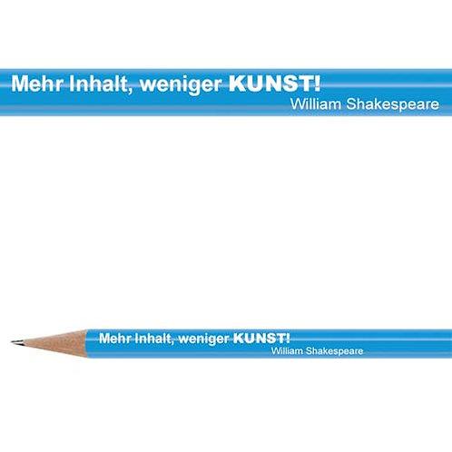 Zitate-Bleistift, Shakespeare, Kunst