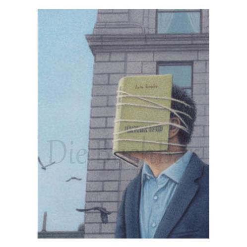 Kunstpostkarte »Lesender Mann III.«