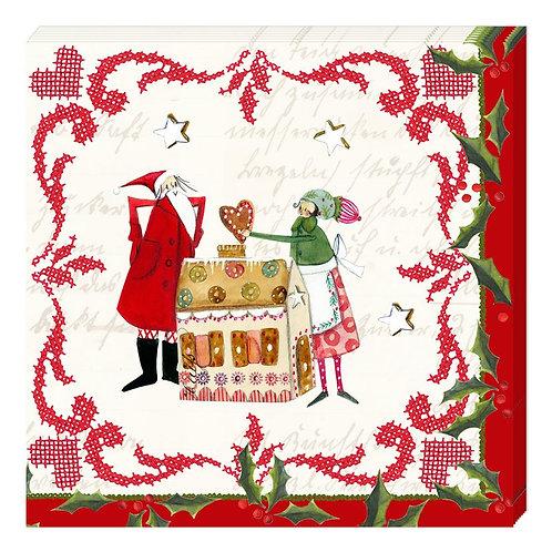 """Servietten """"In der Weihnachtsbäckerei"""""""