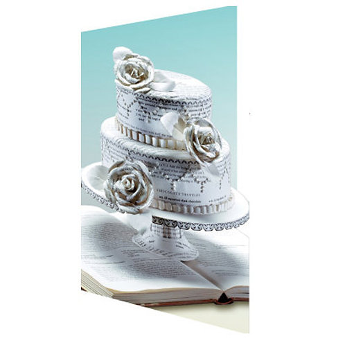 Doppelkarte »Book Art«, Cake