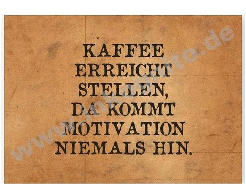 Postkarte »Kaffee erreicht Stellen«