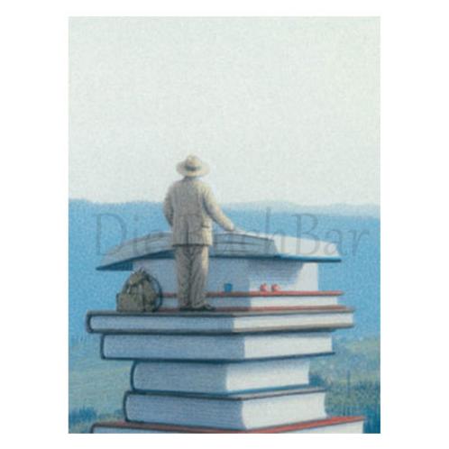 Kunstpostkarte »Lesender Mann IV.«