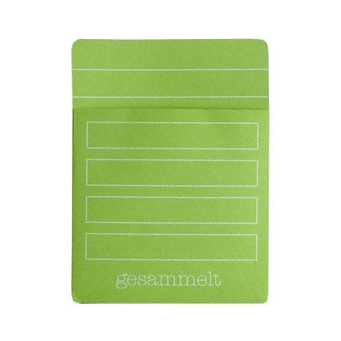 Einstecktasche für Bücher, grün