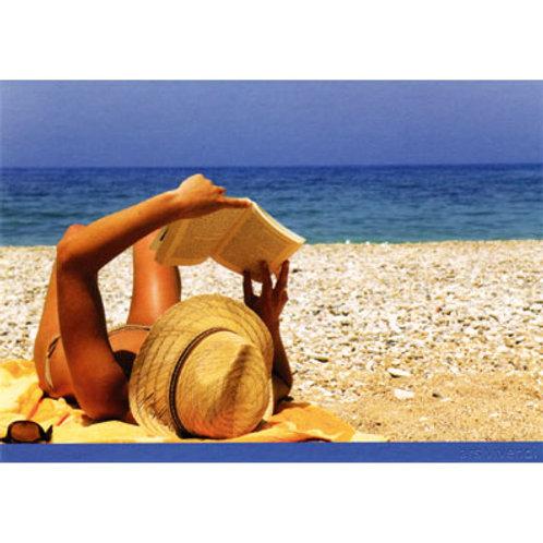Postkarte »Lesen am Meer«