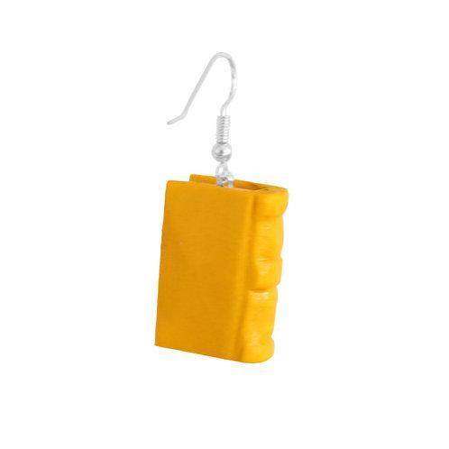 Holzohrring »Book«, gelb