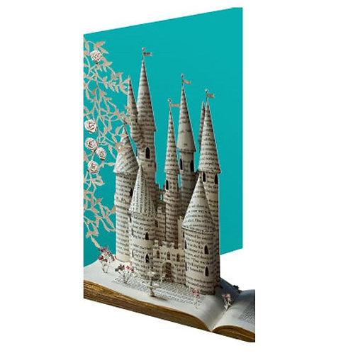 Doppelkarte »Book Art«, Enchanted Castle