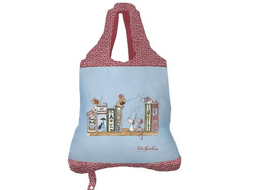 Einkaufsbeutel »Tilda - Bücherregal«
