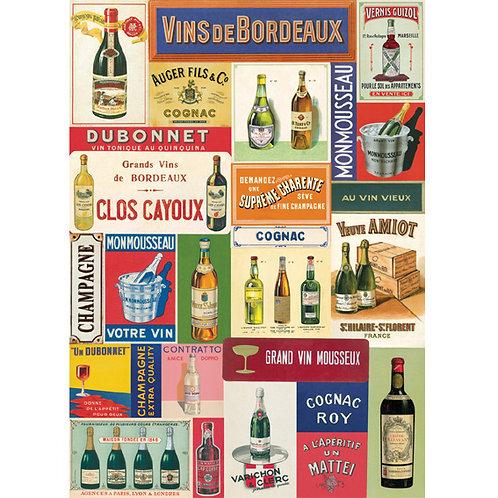 Vintage-Papier »Wein«