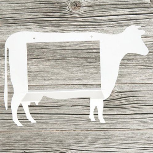 Wandregal »Die Kuh Elsa«, weiß