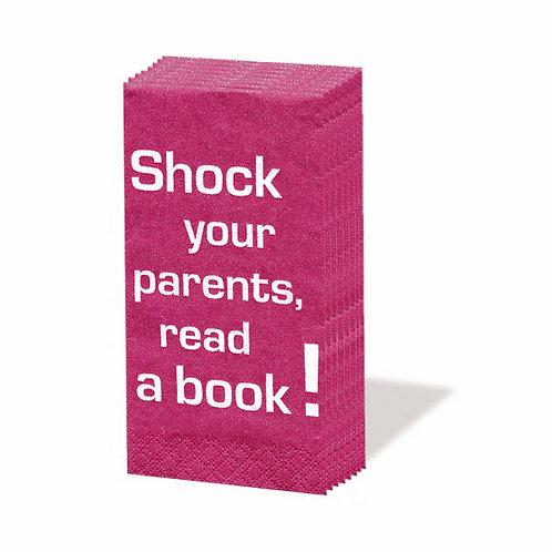 Papiertaschentücher »Shock your parents, read a book!«