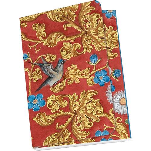 Taschennotizblock Gold »Breviar der Isabella von Kastilien (rot)«