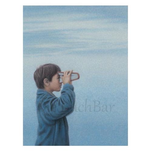 Kunstpostkarte »Junge mit Buch«