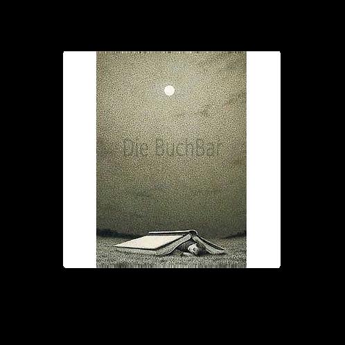 Kunstpostkarte »Nachts, mit Buch«