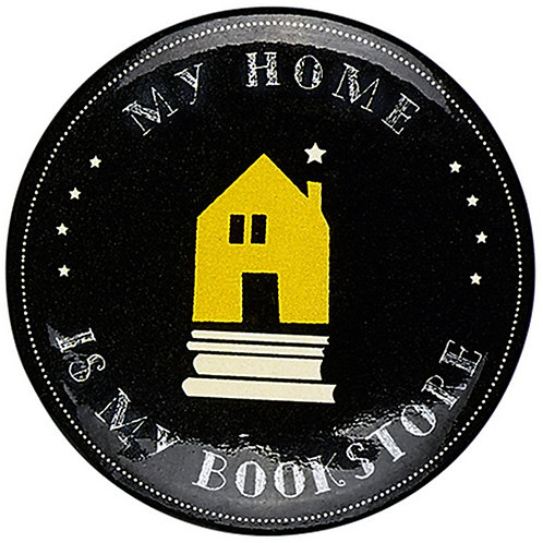 Button »My Home is my Bookstore«