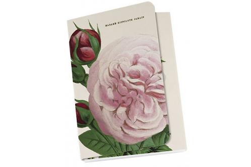 """Taschennotizblöckchen »Zartrosa """"Alte Gartenrosen""""«"""