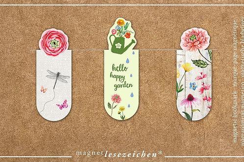 Magnetlesezeichen »Blatt und Blüte«