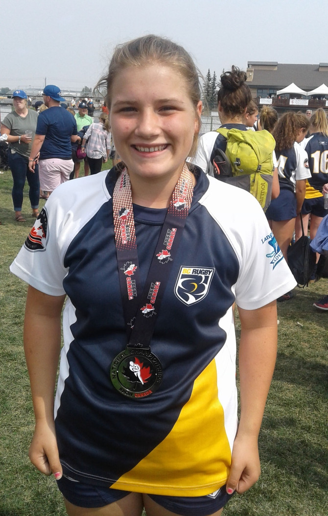United junior represents BC at rugby championships