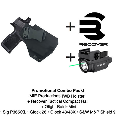 Combo Pack! IWB Holster + Recover Tactical Compact Rail +Baldr Mini