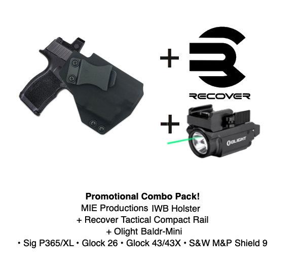 Combo Pack! Javelin IWB Holster + Baldr Mini + Recover Tactical Rail