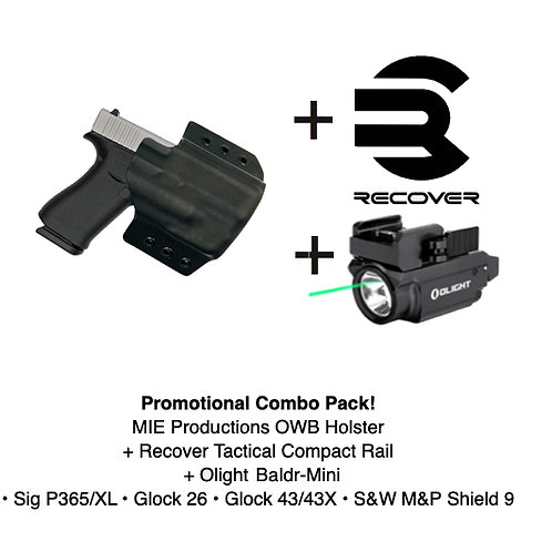 Combo Pack! OWB Holster + Recover Tactical Compact Rail + Baldr Mini