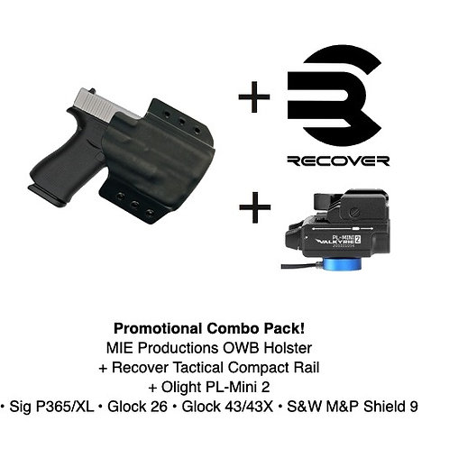 Combo Pack! OWB Holster + Recover Tactical Compact Rail + PL-Mini 2