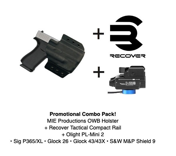 Combo Pack! Boreas OWB Holster + PL-Mini 2 + Recover Tactical Rail