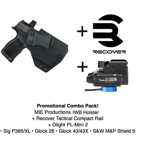 Combo Pack! Javelin IWB Holster + PL-Mini 2 + Recover Tactical Rail