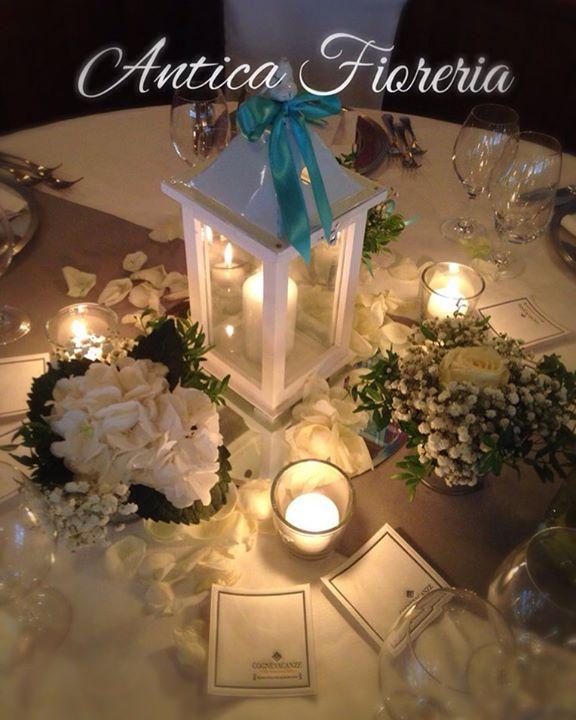 #anticafioreriaaosta #wedding #centrotavola #flowermagic #lanterne #hotelsantorso #tiffanywedding