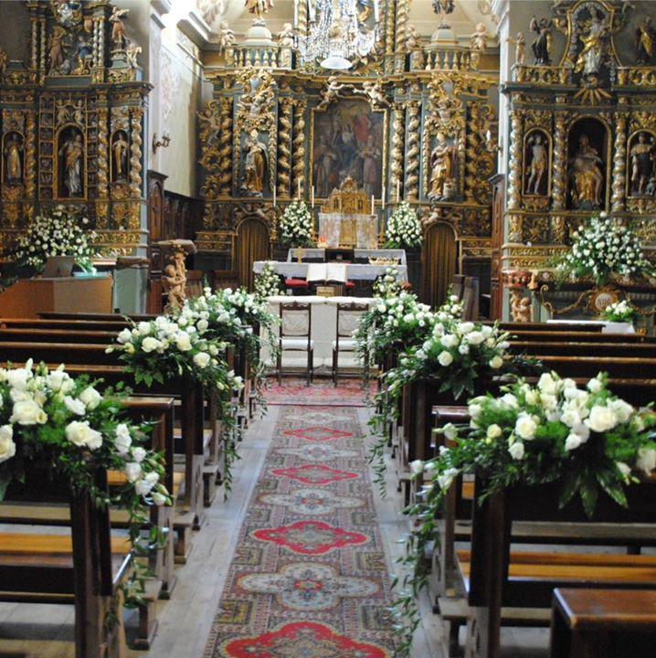 allestimento chiesa di Cogne