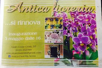 Antica Fioreria Aosta restyling