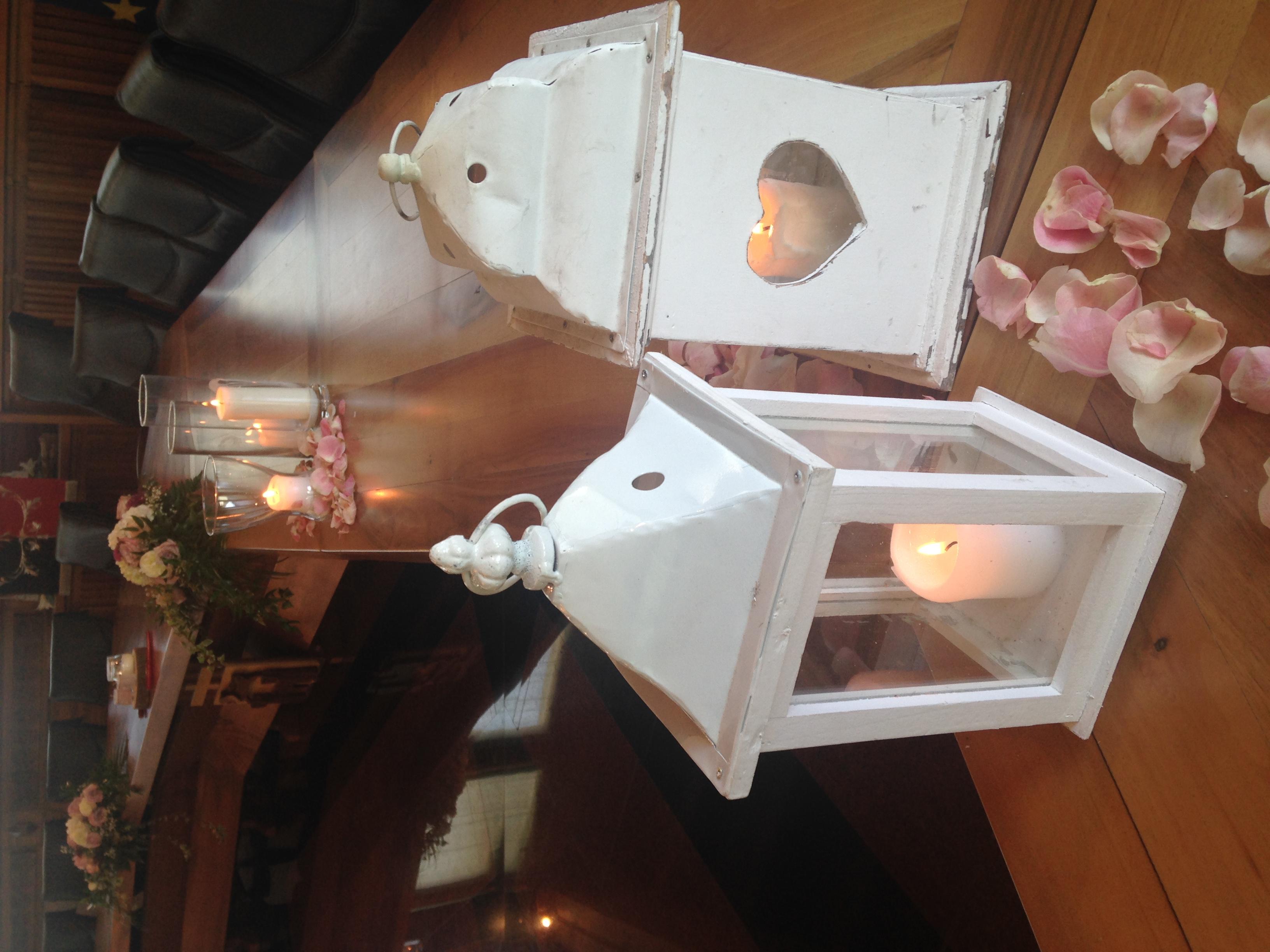 allestimento matrimonio con lanterne
