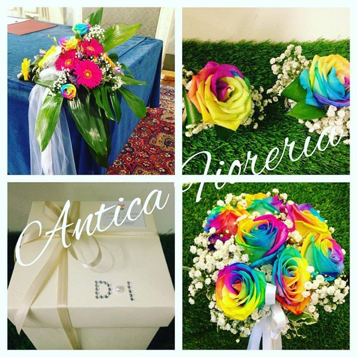 #wedding #anticafioreriaaosta #rainbowroses #rosearcobaleno #colorfull #colorfullife #11giugno2016 #