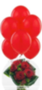 a san valentino sorprendila con un bel bouquet di rose rosse e dei palloncini rossi!