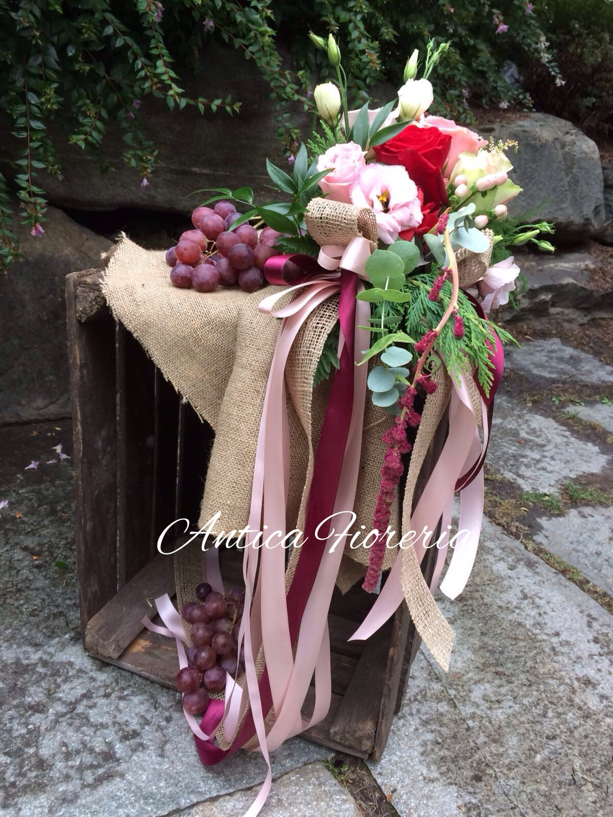 Matrimonio bordeaux e rosa