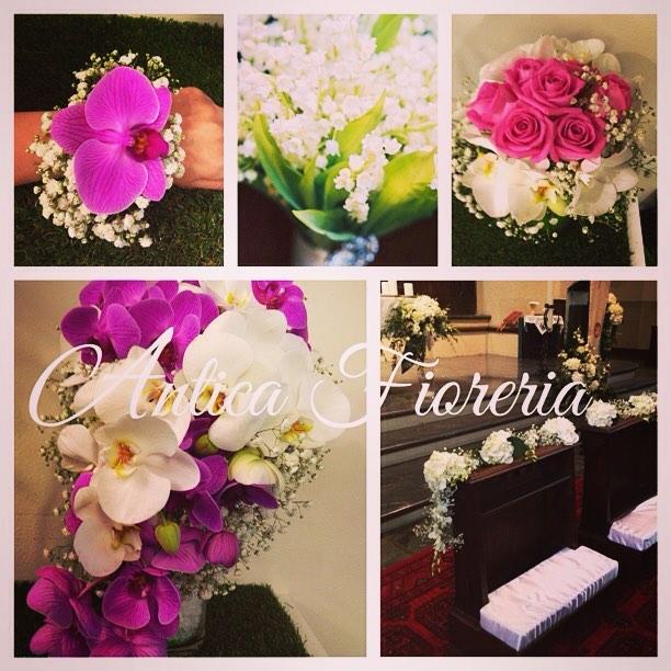 #wedding #aostavalley #aosta #flowerslovers #phalaenopsis #roses #anticafioreriaaosta #bouquet #wedd