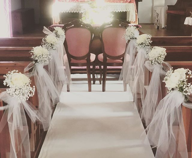 👰allestimento chiesa per un bel matrimo