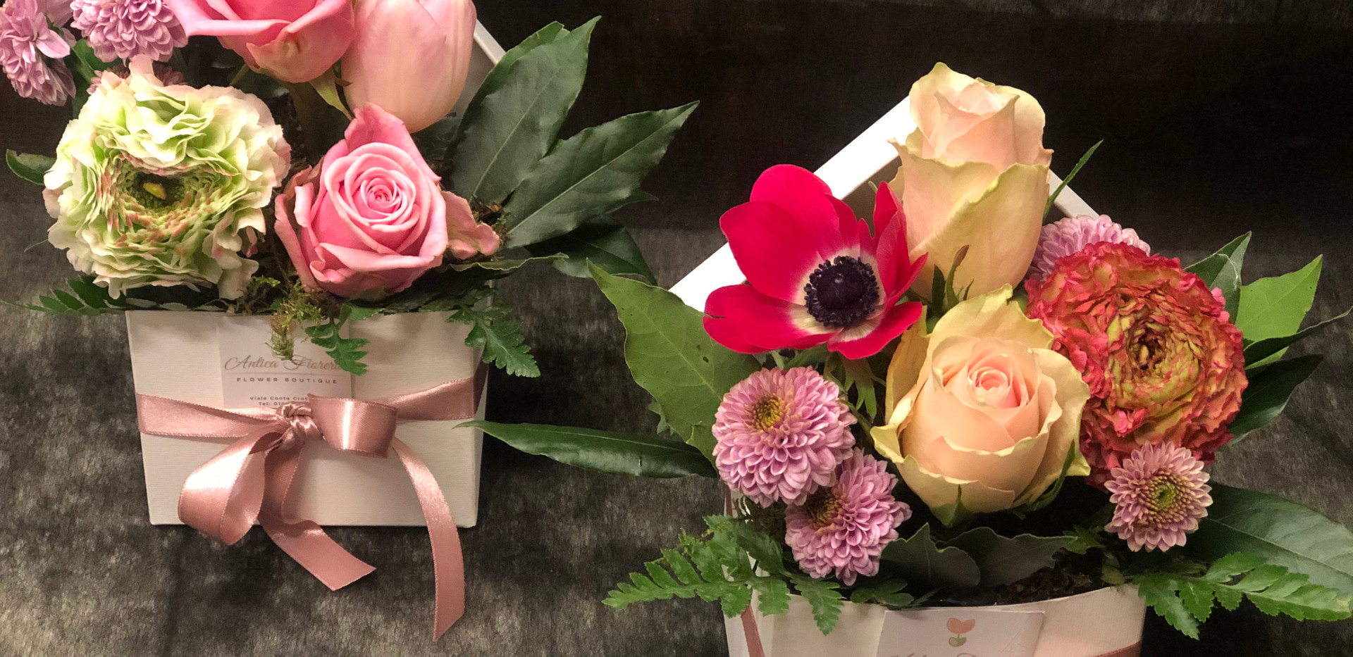 Scatoline di fiori freschi