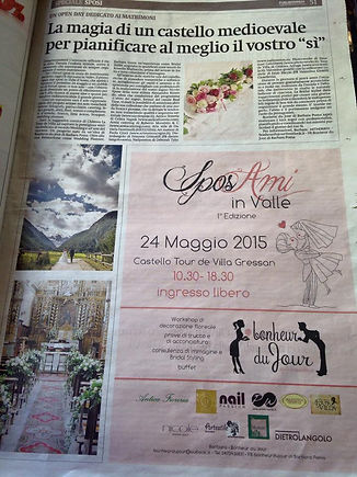 fiera sposi in Valle d'Aosta