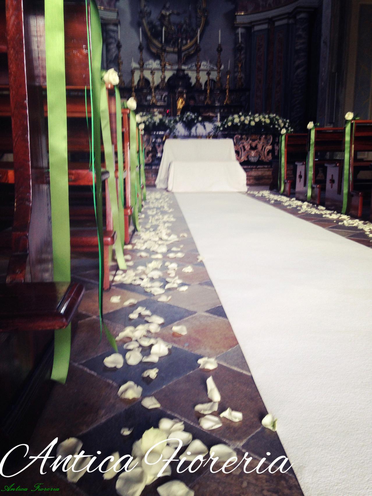 navata bianco e verde muschio