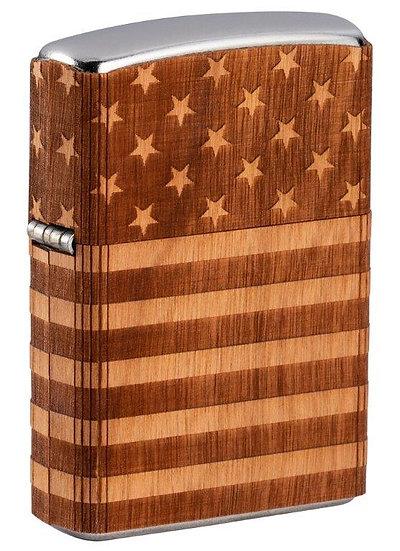 Woodchuck Wrap Zippo American Flag
