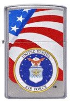 US AIR FORCE CHROME W/ FLAG