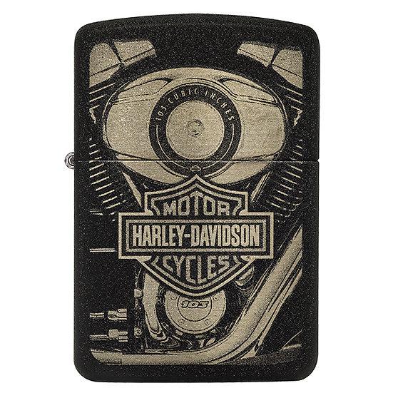 HARLEY DAVIDSON BLACK CRACKLE
